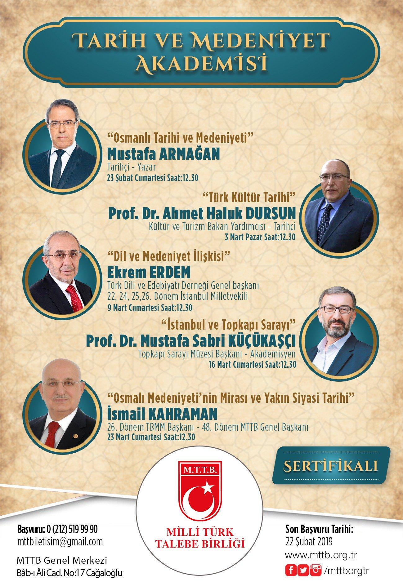 """""""Tarih ve Medeniyet Akademisi"""""""