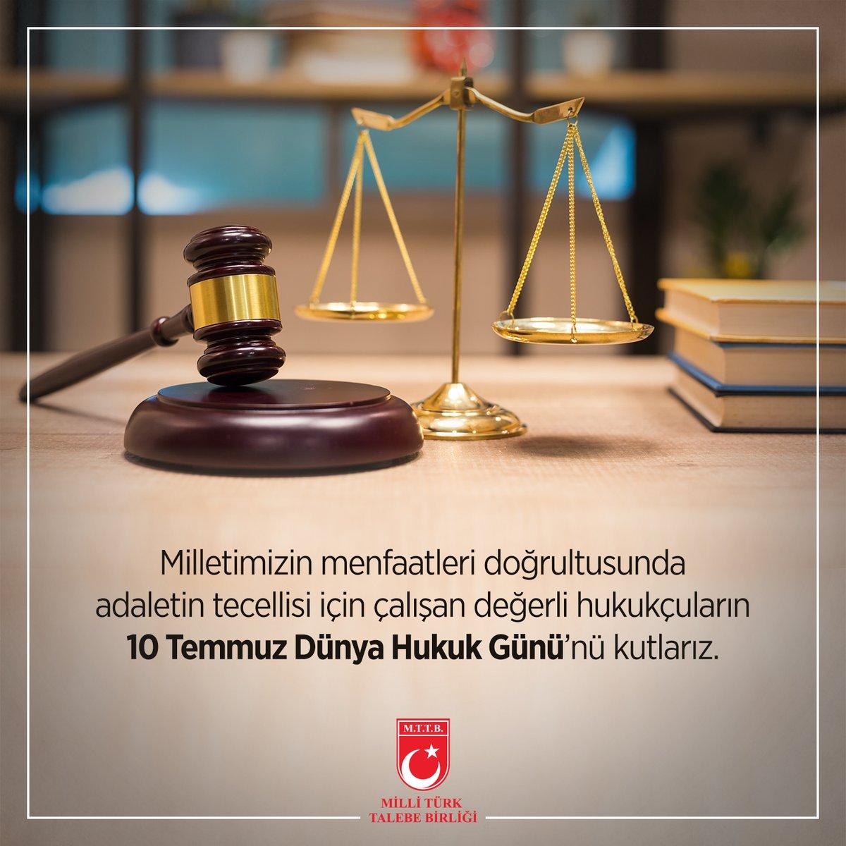 10 Temmuz Dünya Hukuk Günü Kutlu Olsun
