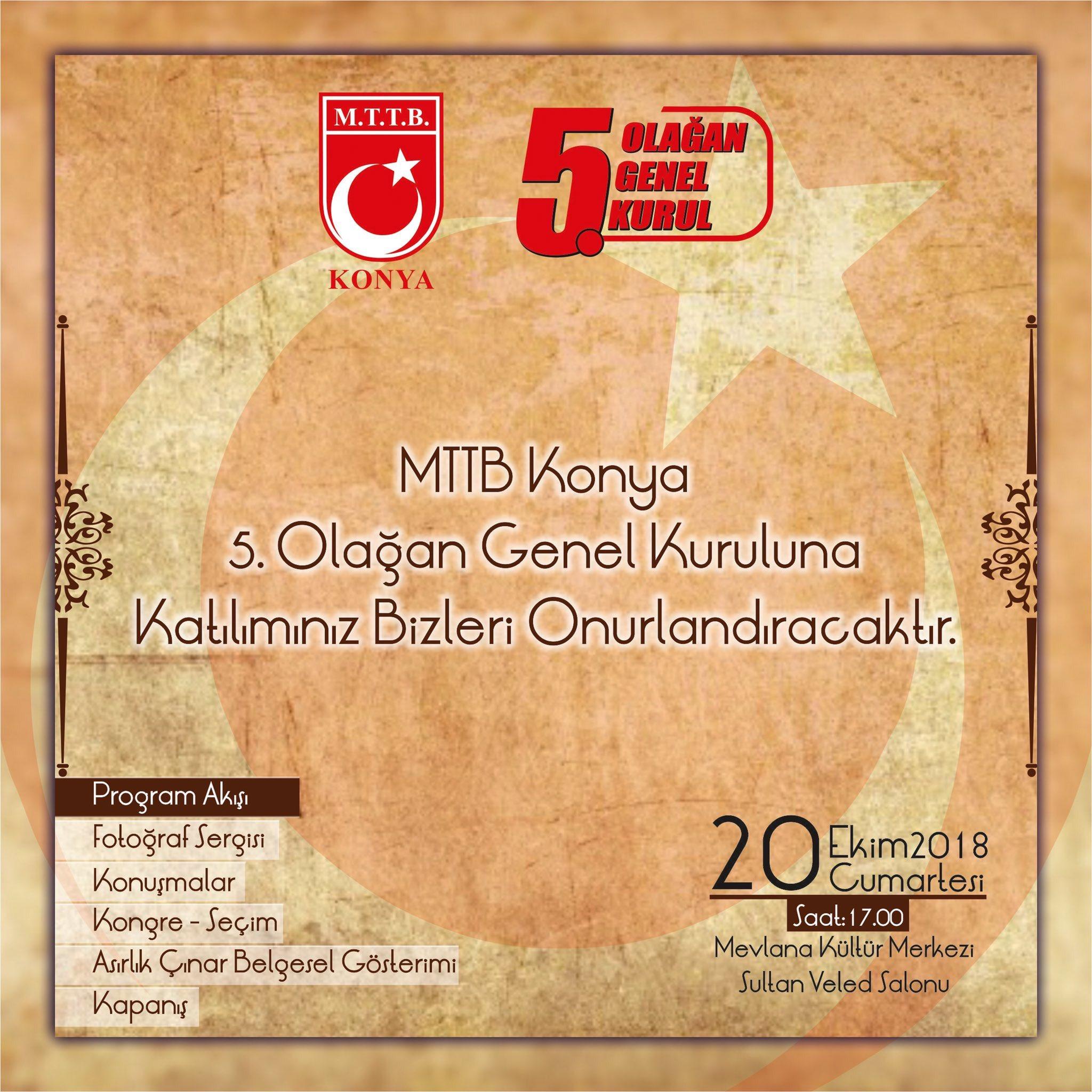 Milli Türk Talebe Birliği Konya 5. Olağan Genel Kurulu